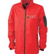 Ladies Windbreaker Jacket Red & Black
