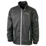 Ladies Windbreaker Jacket Black & Silver