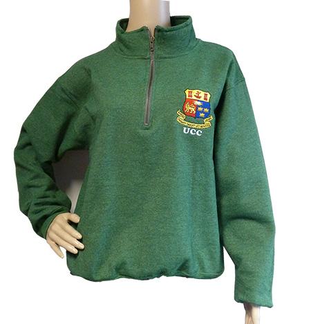 UCC Crested Half Zip Sweatshirt - UCC Shop