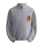 Heather Grey Crested Half Zip