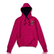 Pink with Navy Hood