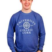 melange-sweatshirt-blue