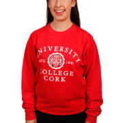 melange-sweatshirt-red